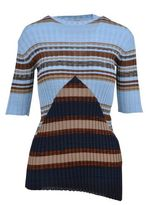 Celine Ribbed Striped Sweater
