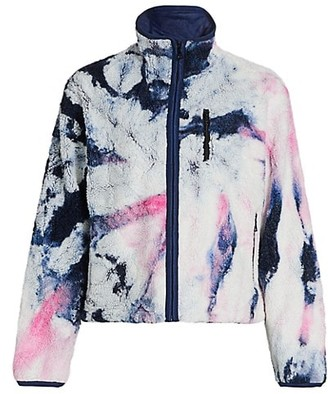 John Elliott Tie-Dye Fleece Zip-Up Jacket