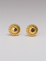 Rope Circle Studs in Gold