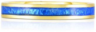 Audrey C. Jewels 18K Yellow Gold Enamel Stacking Band Ring, Size 5-8