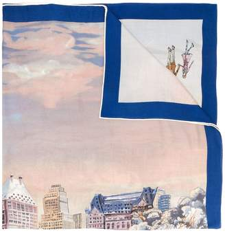 Loro Piana city print scarf