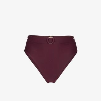 Juillet burgundy Ashley belted bikini bottoms
