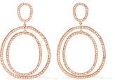 Ileana Makri Again Double 18-karat Rose Gold Diamond Earrings - one size