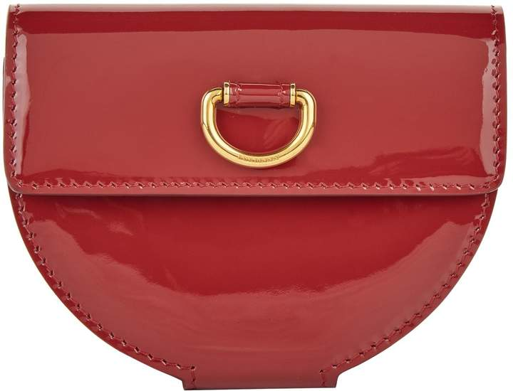 Burberry Patent Leather D-Ring Coin Purse