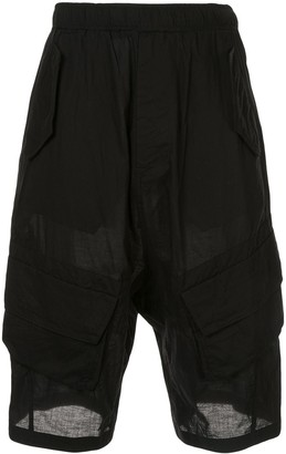 Julius Drop-Crotch Cargo Shorts
