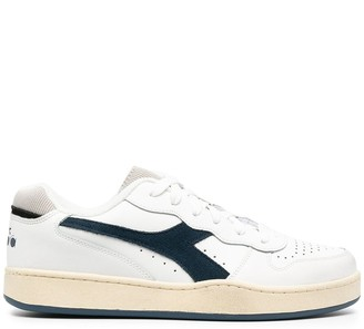Diadora Mi Basket Low Used leather sneakers