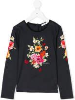 Dolce & Gabbana floral print longsleeved T-shirt