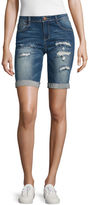 Almost Famous 8 Denim Bermuda Shorts-Juniors