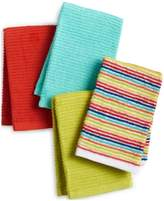 Fiesta Ribbed & Striped Kitchen Towel Collection 4-Pc. Bar Mop Set