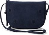 Toms Deep Ocean Suede Embroidered Venice Crossbody Bag