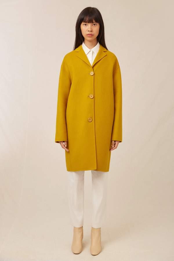 Mansur Gavriel Wool Cashmere Classic Coat - Mustard