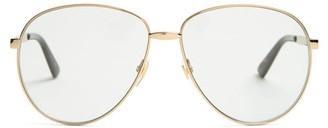 Gucci Aviator Metal Sunglasses - Mens - Gold