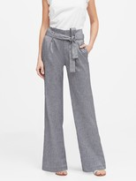Banana Republic Petite High-Rise Wide-Leg Linen-Cotton Pant