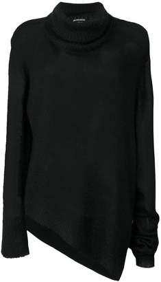 Ann Demeulemeester asymmetric knitted sweater