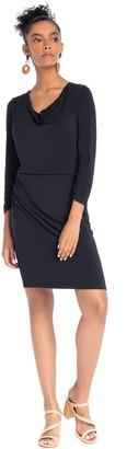 Synergy Cowl Neck Midi Dress - Pearl