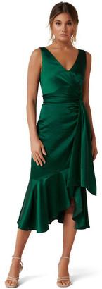 Forever New Gracelyn Satin Wrap Midi Dress