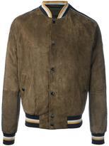 Lanvin sleeve stripe stadium jacket - men - Cotton/Lamb Skin/Polyurethane/Viscose - 56
