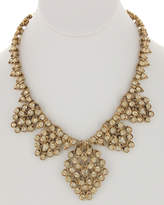 Sparkling Sage 14K Plated Crystal & Resin Statement Necklace