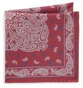 Saks Fifth Avenue Paisley Silk Pocket Square