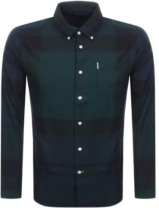 Barbour Long Sleeved Dunnon Check Shirt Black