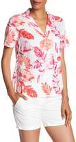 Tommy Bahama Florals Falling Short Sleeve Linen Blend Camp Shirt