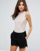 Love High Neck Lace Body