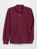 Gap Kids Uniform Long Sleeve Polo Shirt Shirt