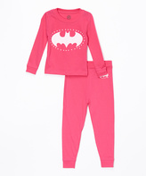 Intimo Fuchsia Batgirl Pajama Set - Toddler & Girls