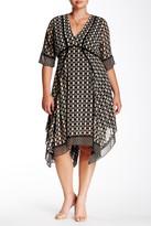Taylor Printed Chiffon Deep-V Shirt Dress (Plus Size)
