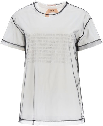 N°21 N.21 Logo T-shirt With Crystals