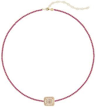 GABIRIELLE JEWELRY 22K Over Silver Cz Choker Necklace