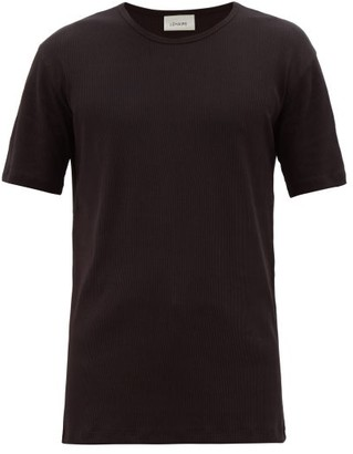 Lemaire Ribbed Organic Cotton-blend Jersey T-shirt - Black