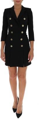 Elisabetta Franchi Double Breasted Blazer Mini Dress