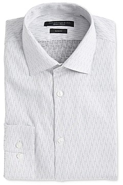 John Varvatos Soho Textured Dot Slim Fit Dress Shirt