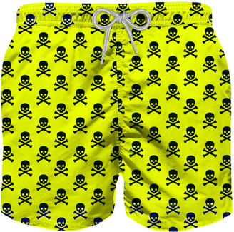 MC2 Saint Barth Micro Skulls All Over Print Boys Swim Trunks