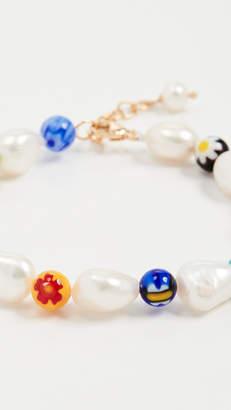 Millefiori Beck Jewels and Pearl Bracelet