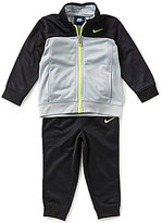 Nike Boys 12-24 Months Tricot Color Block Tracket Jacket & Solid Pant Set