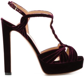 Francesco Russo Braided Velvet Sandals