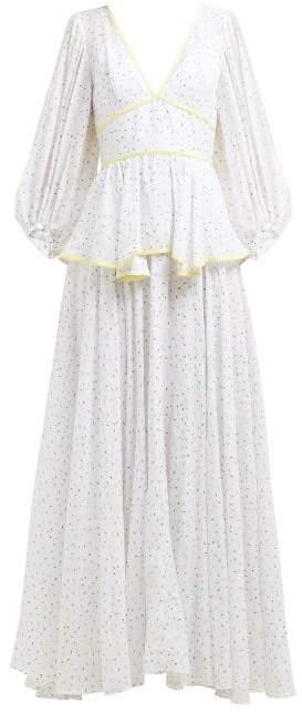 STAUD Panarea Floral Print Maxi Dress - Womens - White Multi