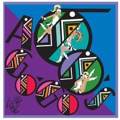 Bob Mackie Purple/Blue/Black Rug