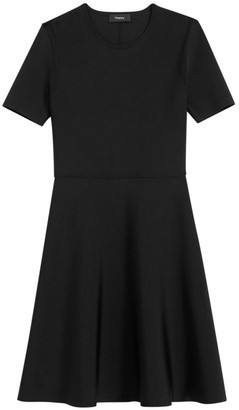 Theory Intarsia Fit-&-Flare Dress