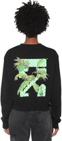 Off-White Off White Printed Cotton Jersey Sweatshirt