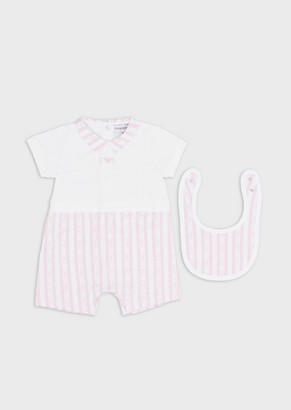 Emporio Armani Gift Set With Romper Suit And Bib