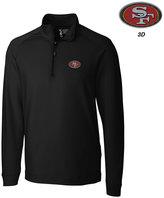 Cutter & Buck Men's San Francisco 49ers 3D Emblem Jackson Overknit Quarter-Zip Pullover