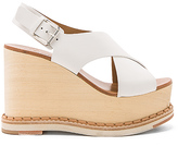 Flamingos Trendy Wedge in White. - size 36.5 (also in 39)