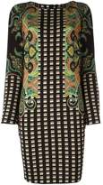 Etro checked paisley print shift dress