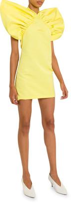 Givenchy Wing-Shoulder Halter-Neck Mini Dress