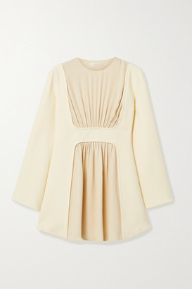 The Row Polina Gathered Silk-crepe Top - Cream