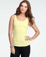 Cotton Scoop Neck Ribbed Tank