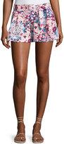 Parker Tie-Front Floral Shorts, Multi